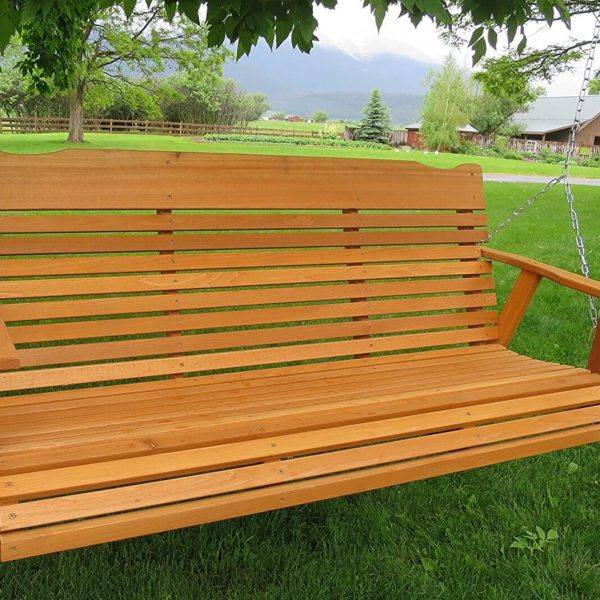 5 Natural Cedar Porch Swing Amish Crafted