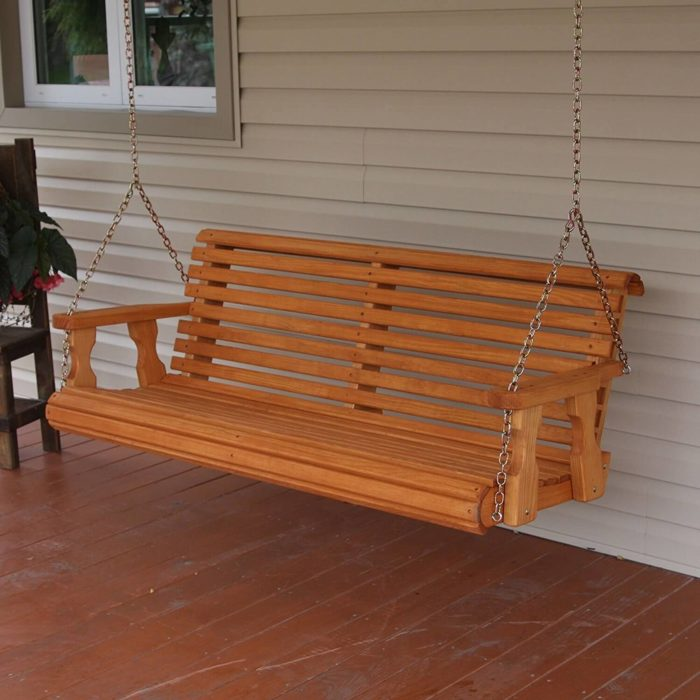 5 Natural Cedar Porch Swing Amish Crafted Review