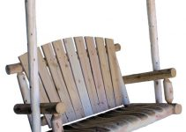 Lakeland Mills 4-Foot Cedar Log Porch Swing