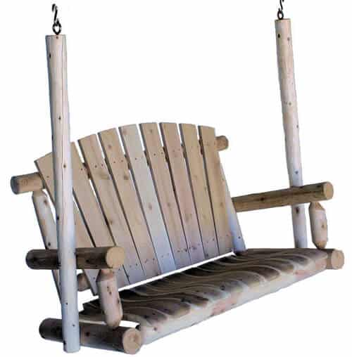 Lakeland Mills 4-Foot Cedar Log Porch Swing