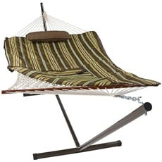 Sunnydaze Cotton Rope Hammock With Stand