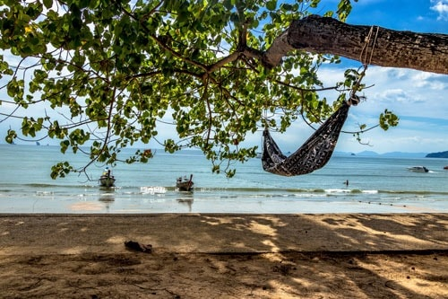 How to Hang a Hammock at the Beach Without Trees